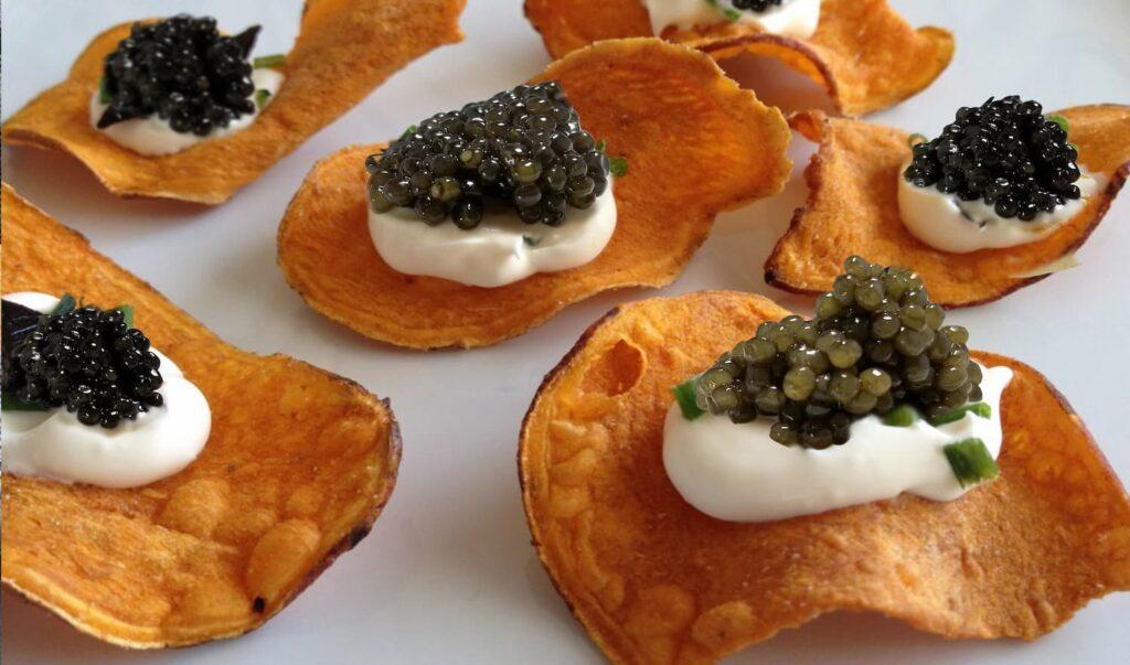 sweet potato with caviar