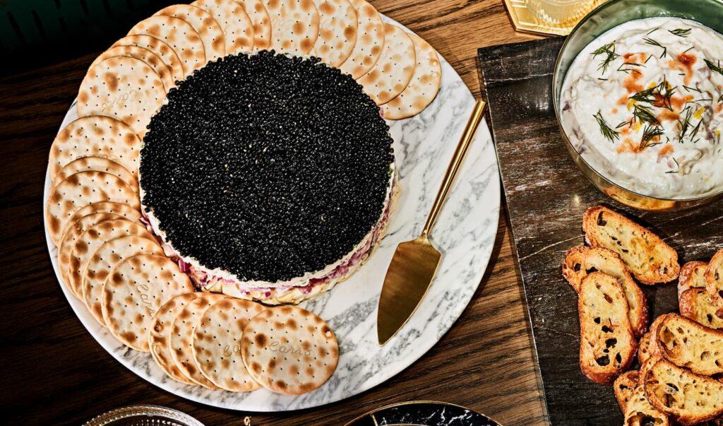 four layer caviar dip