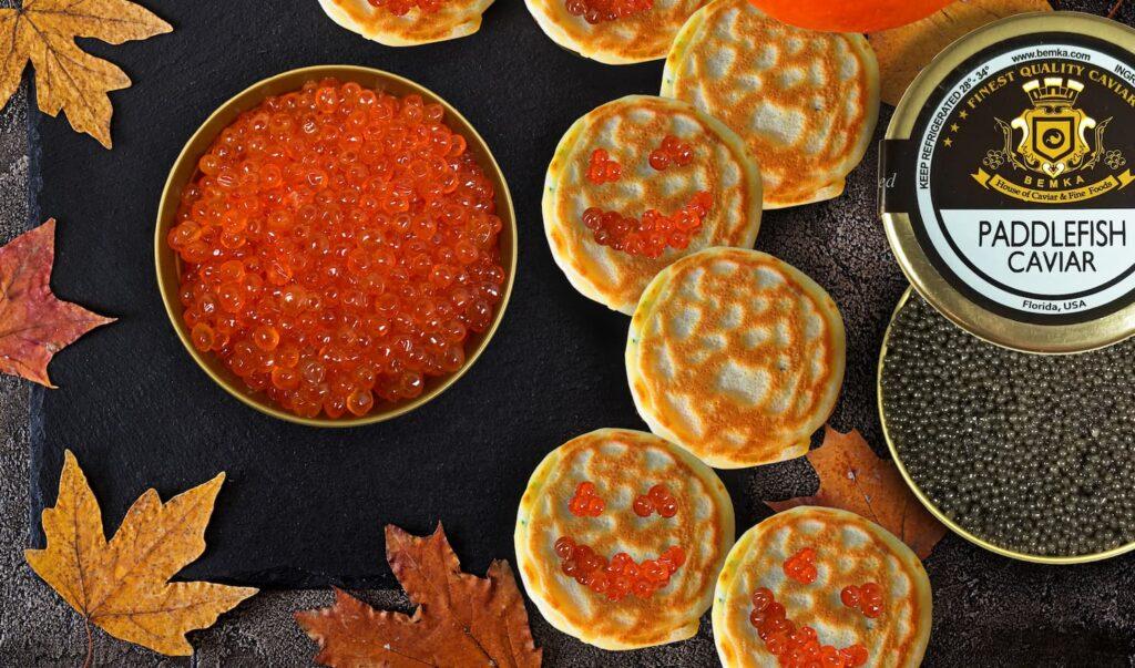 halloween caviar crakers